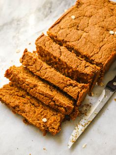 This Vegan & Gluten Free Sweet Potato Bread is fluffy, wholesome, and full of warming spices. It's perfect for a quick breakfast or a healthy evening treat!