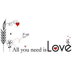 Vinilos Adhesivos Frases All You Need Is Love