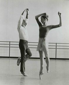 New York City Ballet's Darci Kistler and Jerome Robbins.
