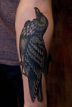 I tattooed this raven the other day, I had a great time doing this one. thanks for looking, BAILEY HUNTER ROBINSON