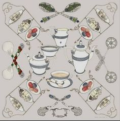 No dogs in this one, but it's one of my faves because it celebrates my other love: afternoon tea!
