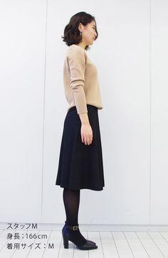 暖かミモレ丈スカート