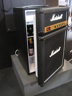Marshall Stack/refrigerator for the music room in the home. OMG. Jay would absolutely die!!!