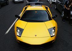 Yellow Lamborghini.