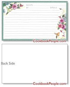 country primitive art recipe cards - Google Search | Recipe Cards ...