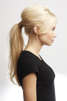 Brigitte Bardot Ponytail. The final primp to this simple style: extra strong hold hairspray from L'Oréal's LOCK IT collection will keep your style BIG and beautiful from frantic morning through lingering cocktails. Go with a gorgeous nude lip, whip out your French accent, and you are Bridgette Bardot all day long. via StyleList