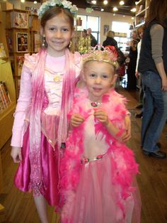 pink princess sisters at my sister's book signing in Edwards, CO