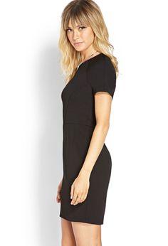 Textured Knit Sheath Dress | LOVE21 - 2000107476