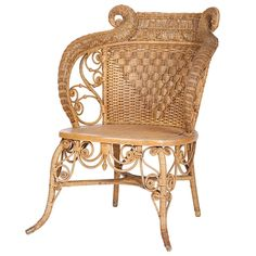 American Wicker Slipper Chair attributed to Heywood-Wakefield | From a unique collection of antique and modern slipper chairs at http://www.1stdibs.com/furniture/seating/slipper-chairs/