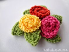 Fiber Flux...Adventures in Stitching: How To Crochet A Curlicue Rose