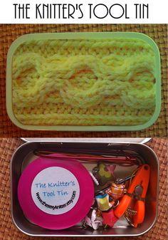 Knitter's Tool kit from Altoid Tin