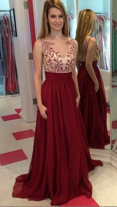 Prom Dress,New Applique Burgundy A-Line Prom Dress,Long Prom Dresses,Floor-length Prom Dresses,Wedding Guest Prom Gowns, Formal Occasion Dresses,Formal Dress