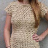 Felicity Tee Crochet Tank Tops, Crochet T Shirts, Crochet Blouse, Crochet Clothes, Crochet Sweaters, Crochet Dresses, Free Crochet, Knit Crochet, Crochet Birds