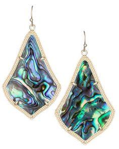 Alexandra Earrings in Abalone Shell - Kendra Scott Jewelry.