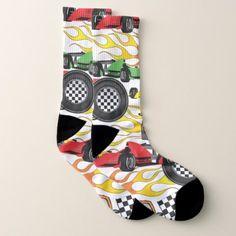 Fun Racing cars sports pattern socks unisex - patterns pattern special unique design gift idea diy