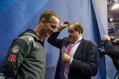"Peyton Manning and Chris Berman from ESPN at Super Bowl XLVIII ""Media Day"""