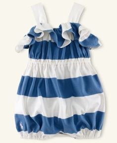 This is super cute!......Ralph Lauren Baby Romper, Baby Girls Striped Romper - Kids Newborn Shop - Macy's