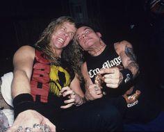 James Hetfield (Metallica) & Harley Flanagan (Cro-Mags)
