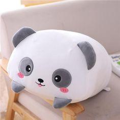 Animal Plush Toys of 9 Styles Bear Elephant Dinosaur Pig Cat Panda Hamster Deer Stuffed Pillow for Kids - 20cm panda