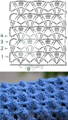 Рельефный узор Спинка крокодила   Crochet by Ellej   Crochet by Ellej   Вязание крючком от Елены Кожухарь