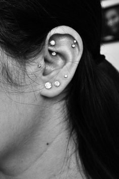 30 Cute and Different Ear Piercings via Sortrature