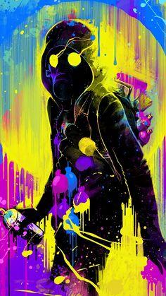 Pop Art Wallpaper, Artistic Wallpaper, Graffiti Wallpaper, Boys Wallpaper, Cool Phone Wallpapers, Wallpaper Wallpapers, Iphone Wallpaper, Mask Painting, Spray Painting