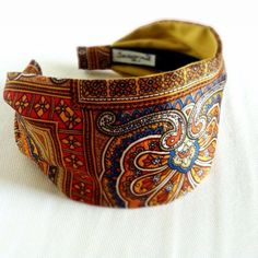 Headband Vintage Italian Silk Scarf Gypsy Bohemian Boho Hippie Head Wrap Mosaic Floral Wide Hairband Accessory Women Hair  30