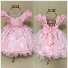 Roupa para o aniversário Princess Flower Girl Dresses, Little Girl Dresses, Girls Dresses, Summer Dresses, Clothing Patterns, Dress Patterns, Party Fashion, Kids Fashion, Kaftan