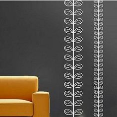 pseudo vine stripes wall decal for accent wall behind crib