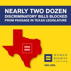 Groups Mark Failure of Broad Legislative Assault on LGBTQ Community in Texas  Today the #Texas legislative session comes to a close after an unprecedented onslaught of more than 20 anti-LGBTQ bills faced.