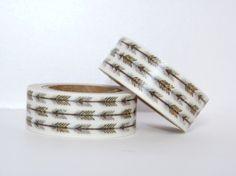 Masking Tape motifs flèches cuivre et blanc cadeau washi tape emballage vintage scrapbooking fun décoration mariage