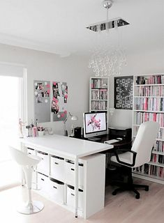 The Office Is A Member Of A Photographer And This Resembles A Perfect Place  To Do Some Creative Work. It Is Possible To Really Make A House Office  Personal ...