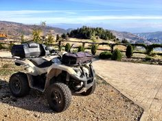 ATV @ our parking in front of the reception!
