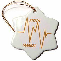 3dRose orn_43845_1 Stock Market Words and Graph Snowflake Ornament Porcelain 3Inch -- You can get additional details at the image link.