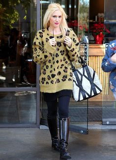 Ok, I'd probably never wear this, but I do love it. How did she make leopard print cozy and not slutty?!
