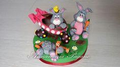 Cake topper coniglietti pasticcioni!