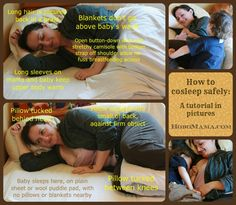 How to cosleep safely: A tutorial in pictures = Hobo Mama