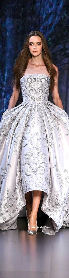 Ralph & Russo Fall 2015 Couture runway model silver white embellished dress gown // Pinned by Dauphine Magazine x Castlefield - Curated by Castlefield Bridal Company & Branding Atelier and delivering the ultimate experience for the haute couture connoisseur! Visit www.dauphinemagazine.com, @dauphinemagazine on Instagram, and @dauphinemag on Pinterest • Visit Castlefield: www.castlefield.co and @ castlefieldco on Instagram / Luxury, fashion, weddings, bridal style, décor, travel, art, design