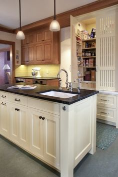 marmoleum flooring---traditional kitchen by Full Circle Construction Inc.