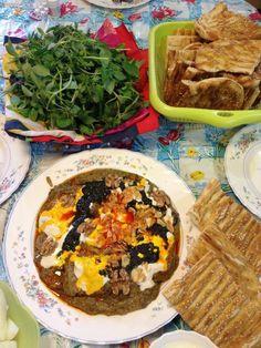 My sister made this yummy Kashk-o bademjan (eggplant dish) for me.