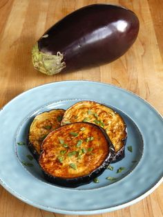 How to Fry Eggplant with Less Oil - Learn to fry eggplant slices golden crisp and tender within, without getting soggy, on ToriAvey.com