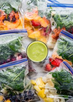 Breakfast is a breeze with these make-ahead smoothie packs. (And they're a great way to get kids to eat their veggies too!)
