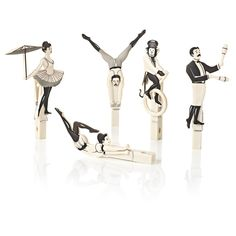 Wäscheklammern-Set, 5-tlg., Zirkus-Akrobaten | Dies und Das | Wohnen