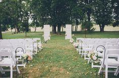 Beautiful outdoor wedding ceremony setup & decor | Virginia & Ron's DIY, outdoors Virginia Farm Wedding | Images: An Endless Pursuit Photography
