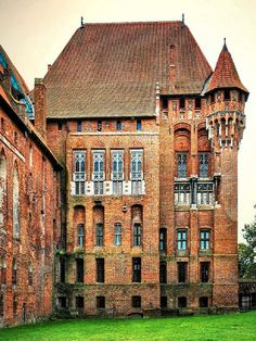 The Castle of the Teutonic Order in Malbork, Germany