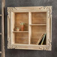 Carved Wood Shadow Box