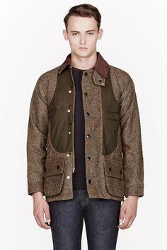 SASQUATCHFABRIX Khaki tweed DIGABLE OILED Jacket