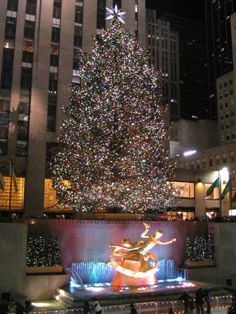Rockerfeller Center.  My Aunt worked in the building behind the tree.  I remember watching them light it when I was a kid and wondering which was her window!