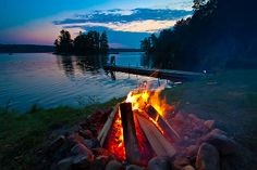 Lovely.. Nothing like a campfire in the summer!  fire and water, air and earth all together!