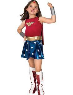 girls - Wonder Woman Child Md Halloween Costume - Child Medium @ niftywarehouse.com